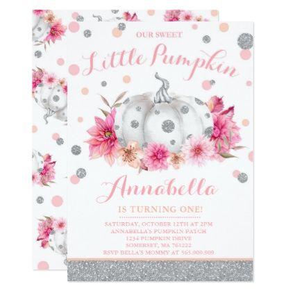 Pumpkin birthday invitation pink silver pumpkin giftidea gift pumpkin birthday invitation pink silver pumpkin giftidea gift present idea filmwisefo