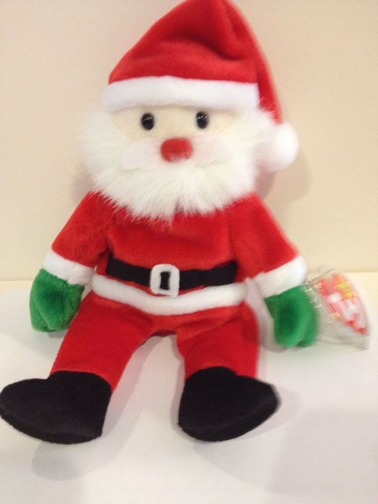 4bf85da3e49 Ty Beanie Babies 1998 Santa Collectible Christmas Plush W  Pellets MWMT  Ty