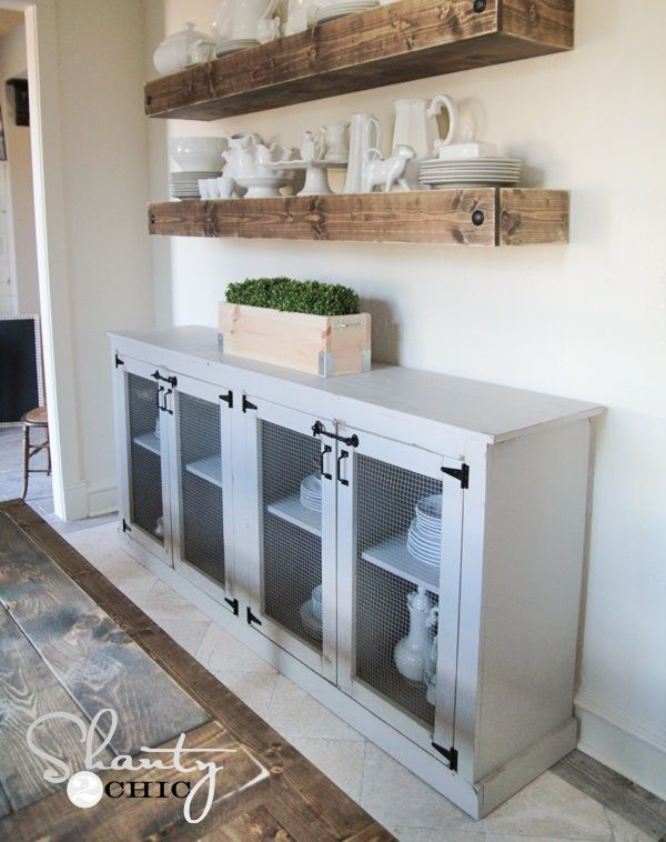 Build A Homemade Homesteading Sideboard DIY Project