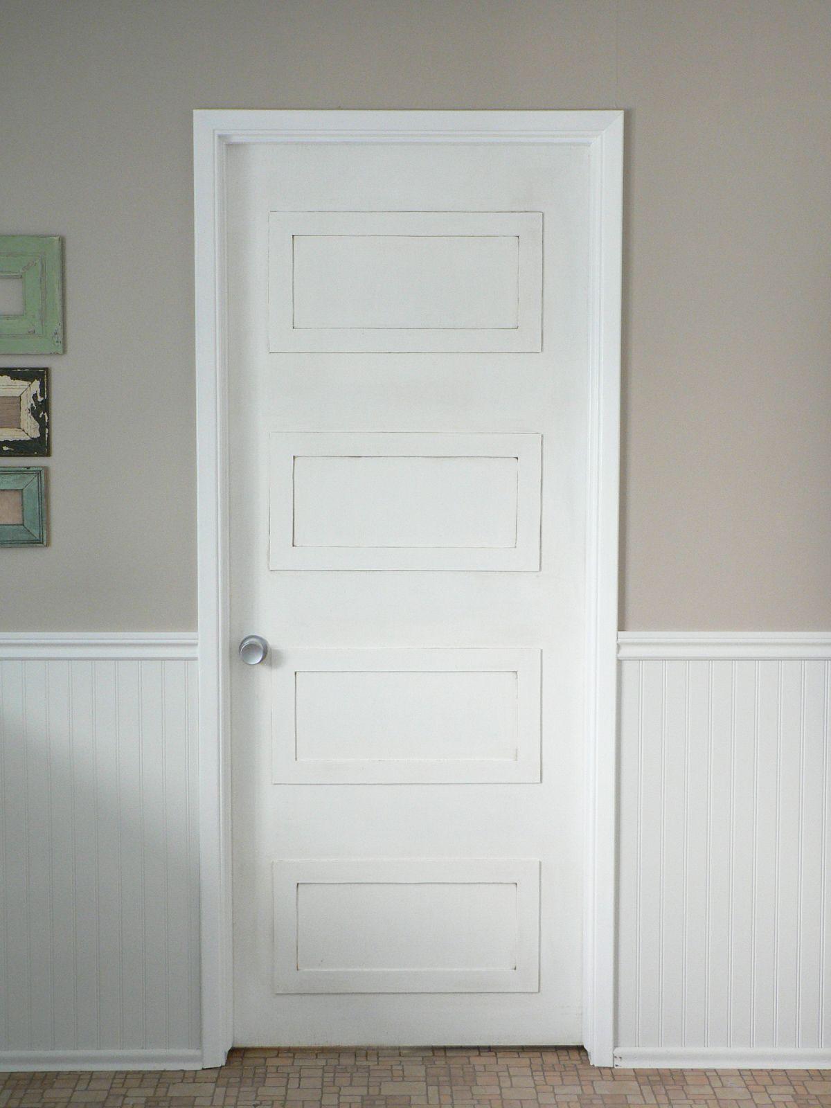 4 rectangle paneled door DIY update  For the Love of It
