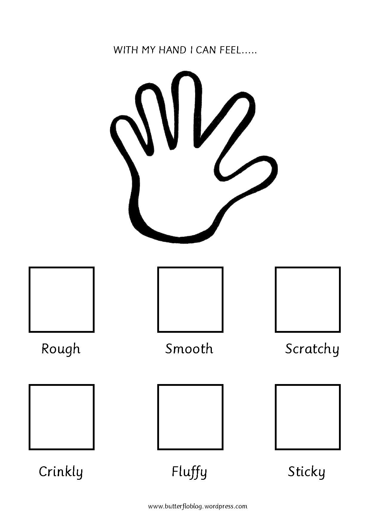 Smooth And Rough Texture Worksheet For Kindergarten