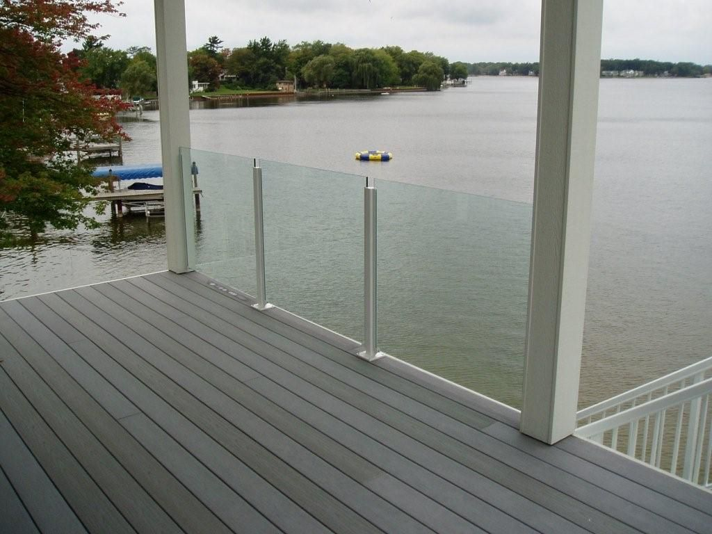 Glass railings for decks - Glass Railing Systems For Decks