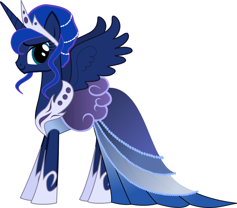 princess luna gala dress cute my little pony pinterest pony