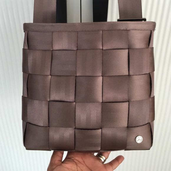 Harvey's (made for Mercedes Benz) seatbelt purse Original Harvey's seatbelt purse. Excellent condition. taupe color. Harveys Bags Crossbody Bags
