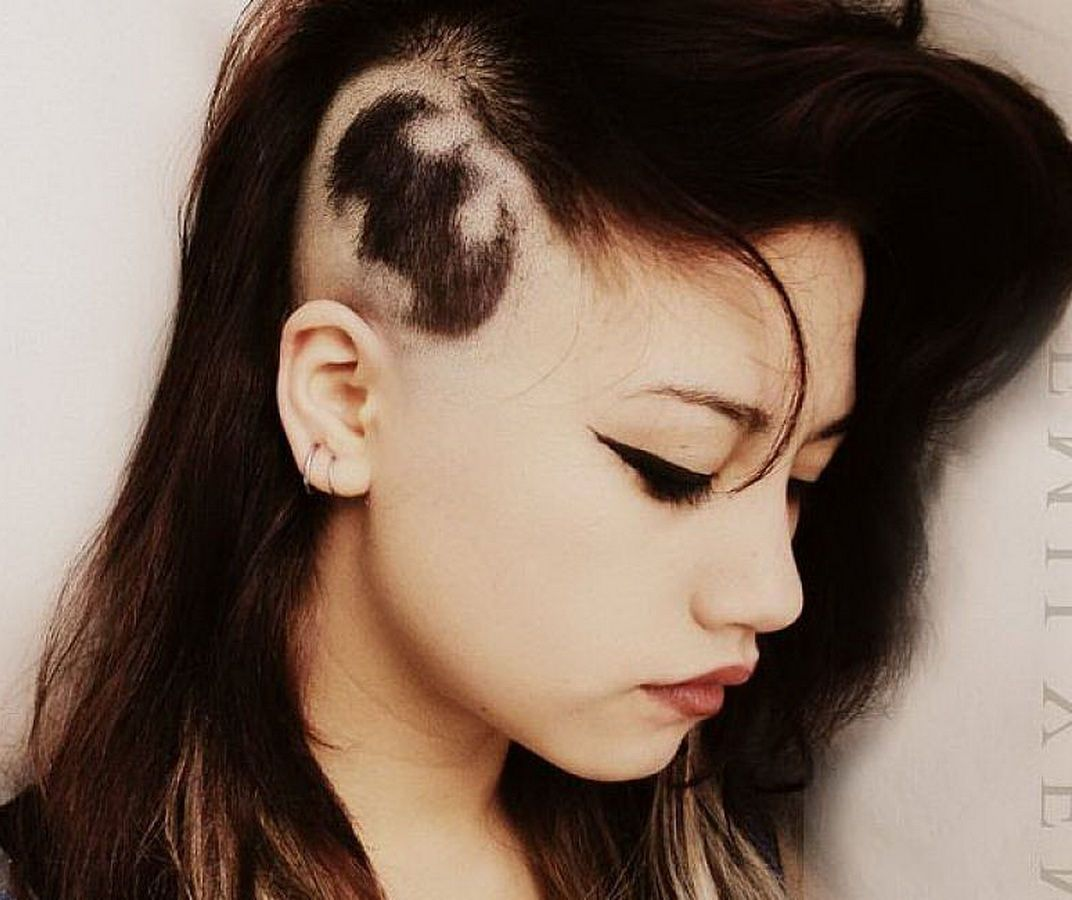 Medium Undercut Hairstyles Women