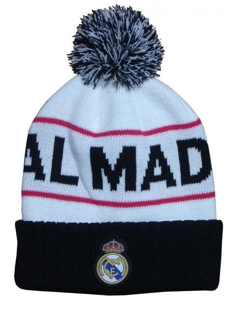 00880db36d3ebb Real Madrid Beanie (PomPom) - Goal Kick Soccer - 1   Headwear   Real ...
