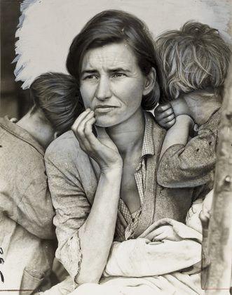 Dorothea Lange - A Destitute Mother; 1936