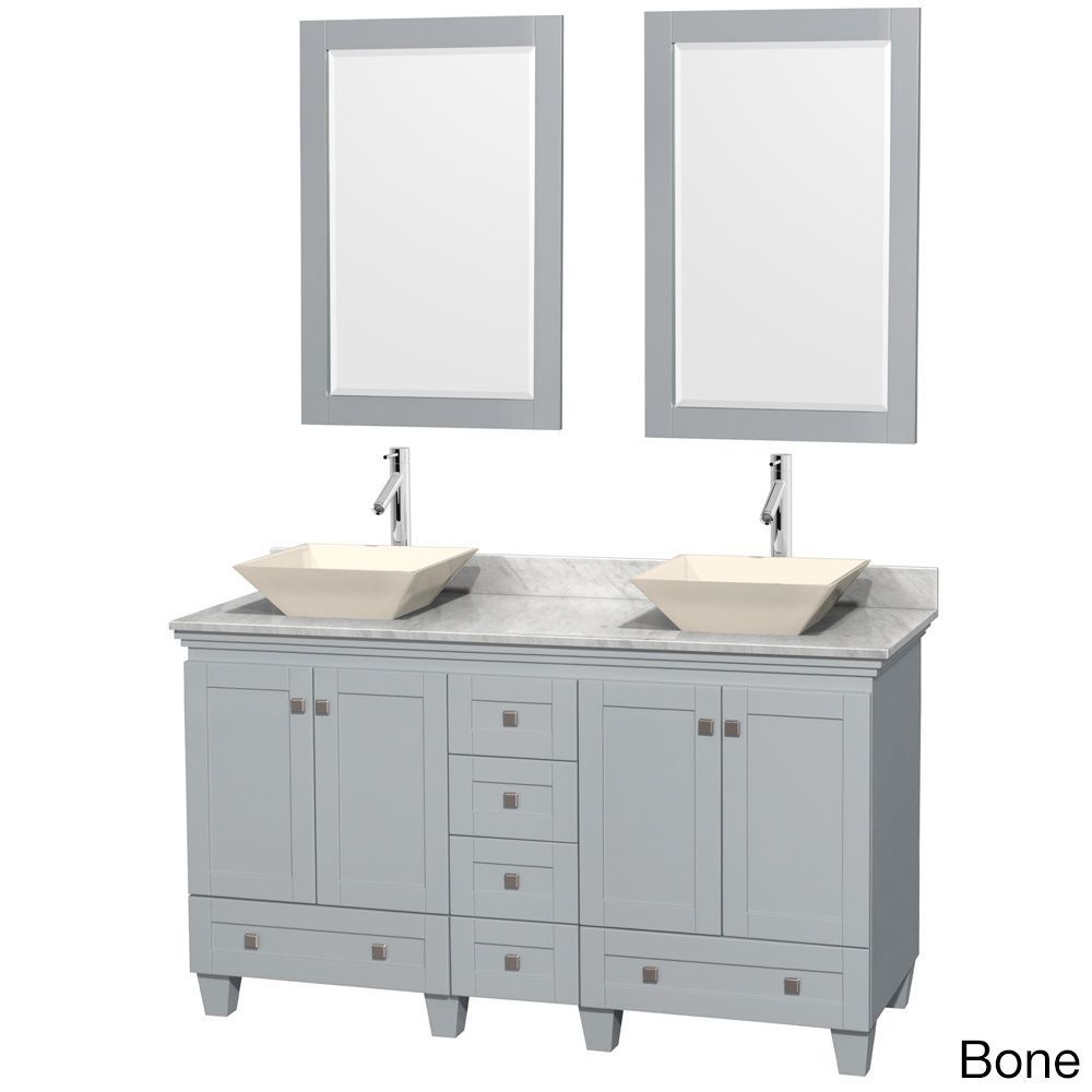 Wyndham Collection 60-inch Acclaim Oyster Grey Double Vanity with ...