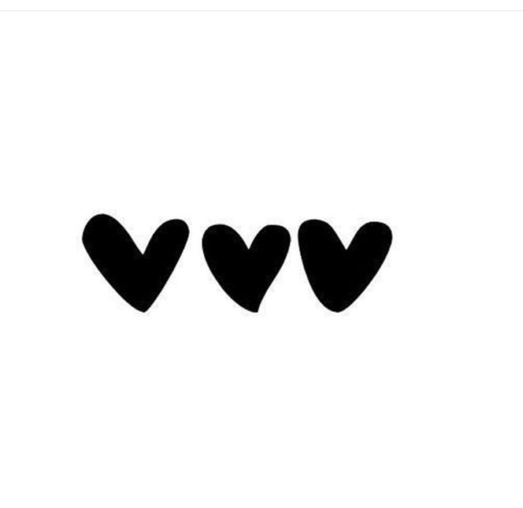 Cute Little Black Hearts Black White Quotes Etsy Shop Simple Shapes