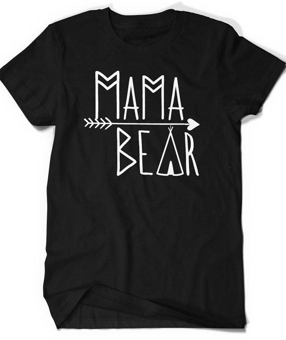 4783b012165 Mama Bear T-Shirt T Shirt Tee Women Ladies Gift Present Custom Mothers Day  New Mommy Baby Shower Pre
