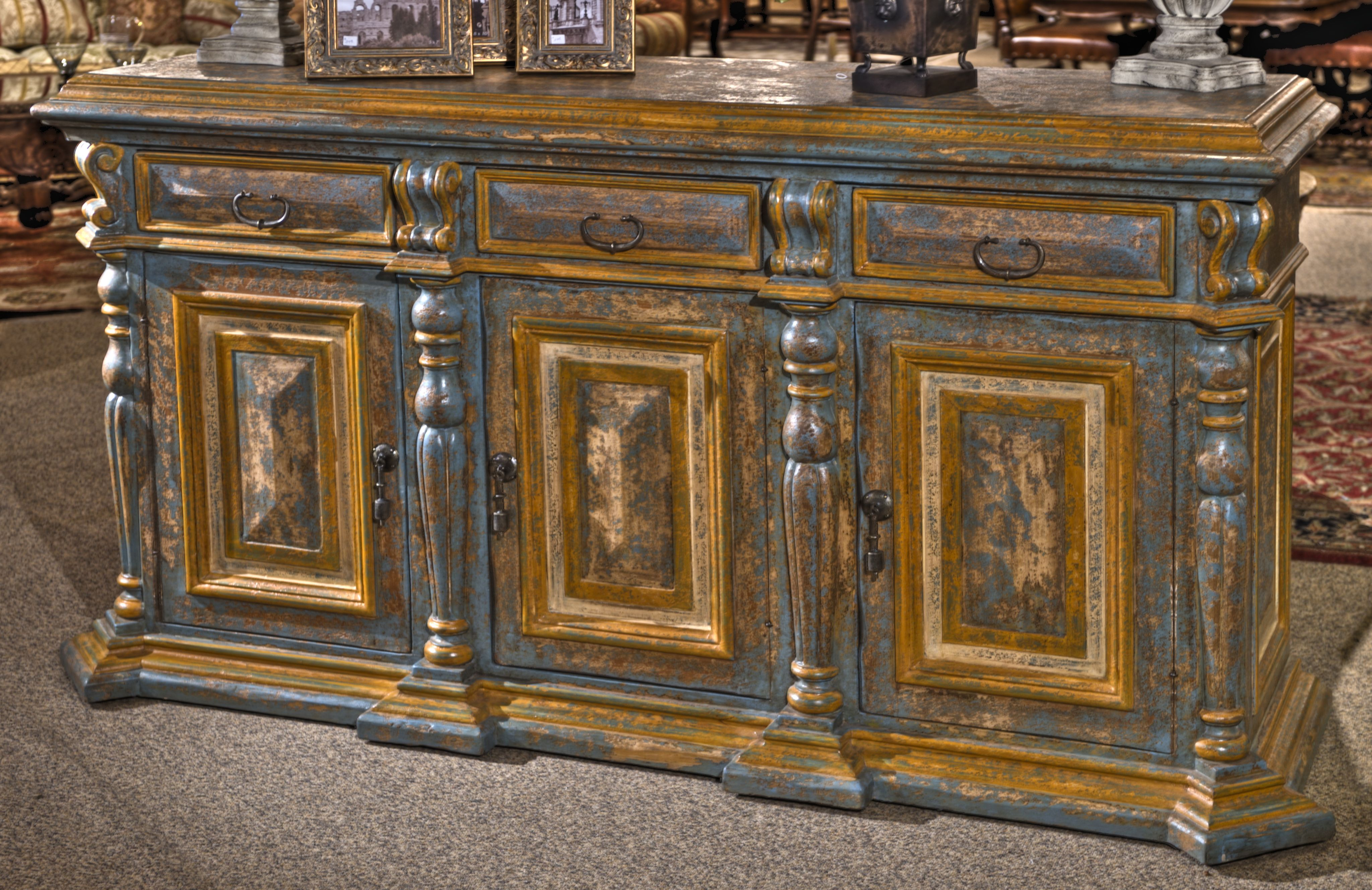 Amazing Console To Add A Splash Of Color To Any Room Exceptional Detail And Beautiful Carving