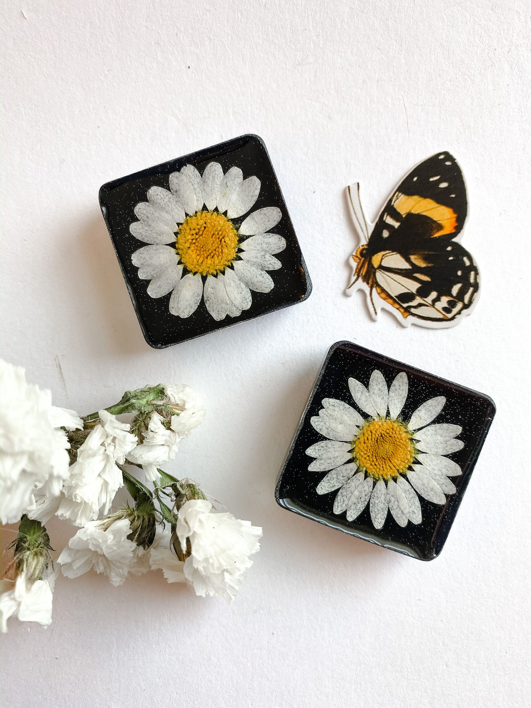 Pressed Flower Magnet Fridge