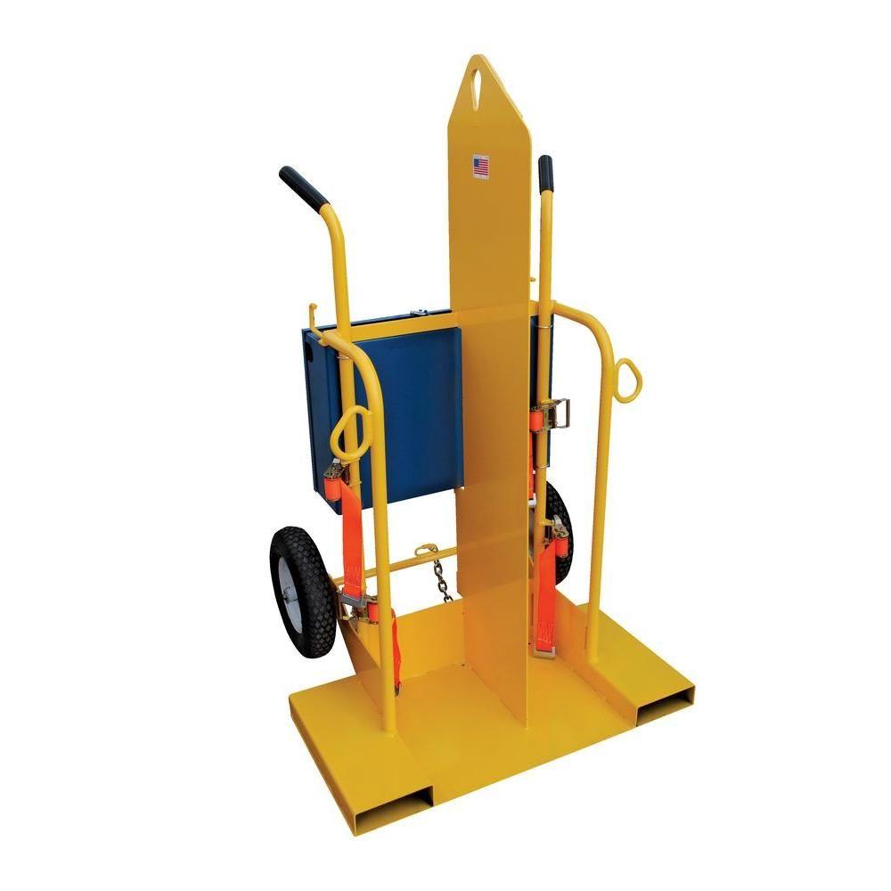 Vestil 500 Lb Portable Capacity Welding Cylinder Torch Cart Cyl 2 The Home Depot In 2020 Vestil Welding Lockable Storage Box
