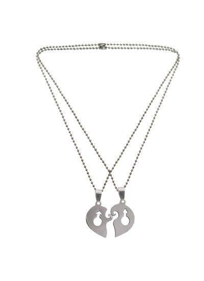 Couple Unique Pendant Malefemale Symbol In Lockable Broken Heart
