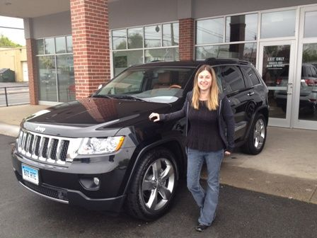 Marcie Palmer From Terryville Ct Picks Up Her 2012 Jeep Grand Cherokee Overland From Www Papasdodge Com Grand Cherokee Overland Mopar Girl 2012 Jeep
