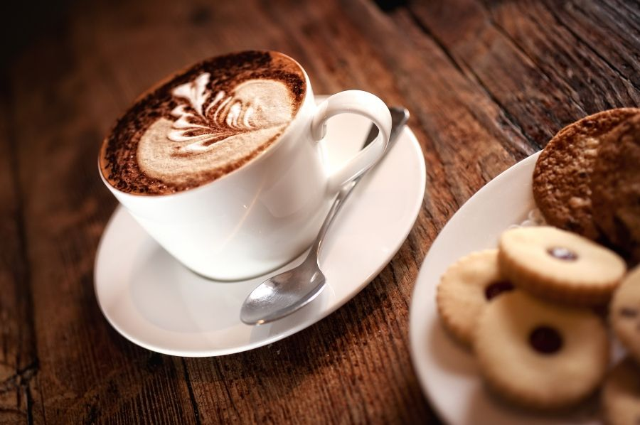 0 The Swan West Malling Expresso Coffee With Shortbread Food And Drink