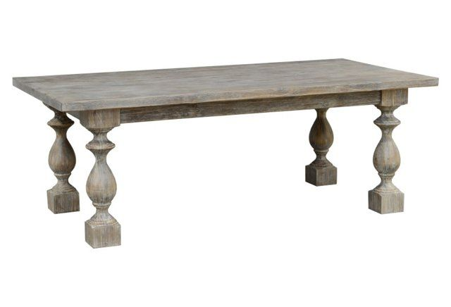 "Marla 84"" Dining Table, Stone Wash"