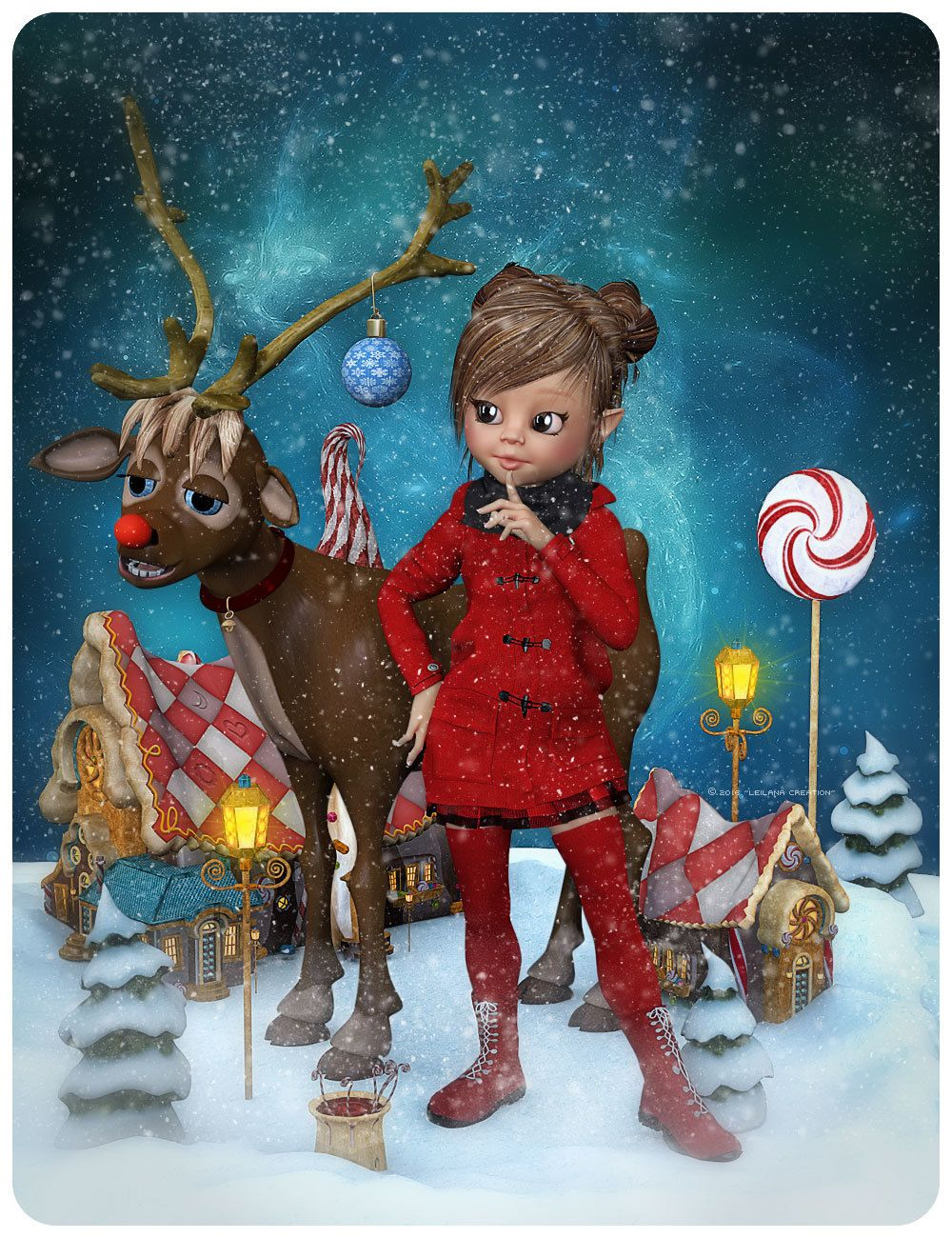 Anibell and the XmasTown *~ by Leilana #leilana #renderosity