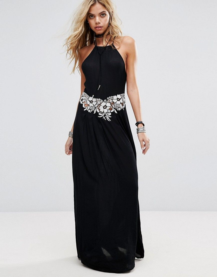 Boohoo cut out waist detail maxi dress black products