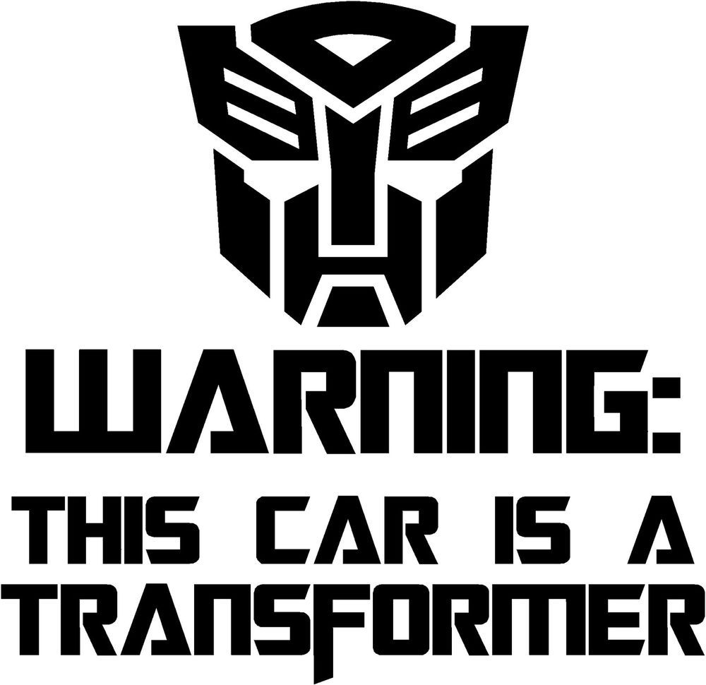 Warning This Car Is A Transformer Car Truck Laptop Bumper