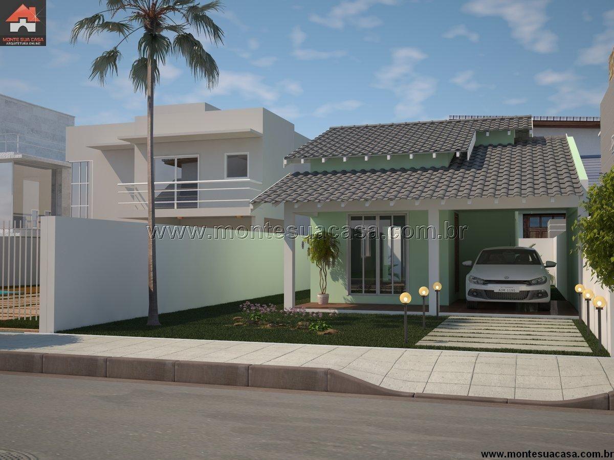 Casa 2 quartos monte sua casa fachadas for Casa moderna 64