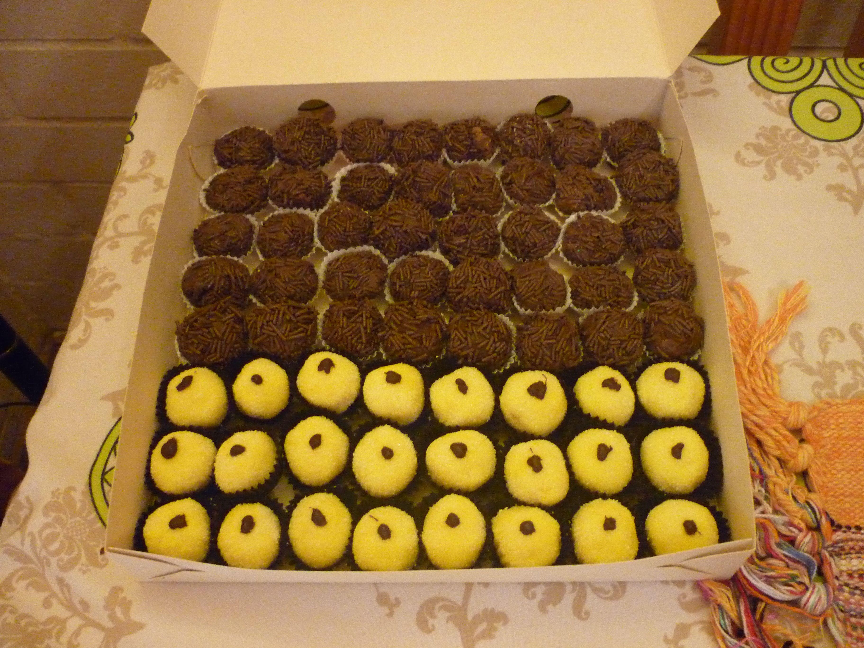 Brigadeiros de Chocolate y Coco