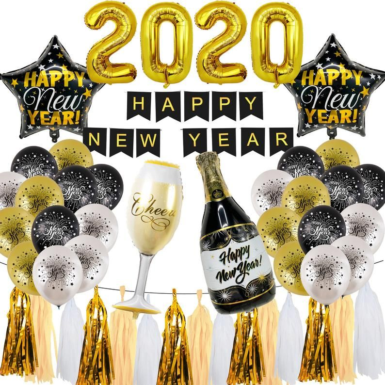 This New Years Eve Party Decorations New Year Party Supplies Happy New Year Party Decor Champagne New Years Eve Decorations New Years Party New Years Eve Party