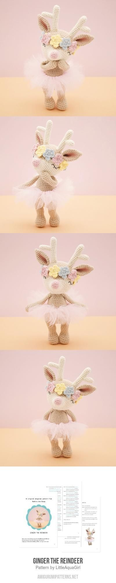 Ginger the reindeer amigurumi pattern