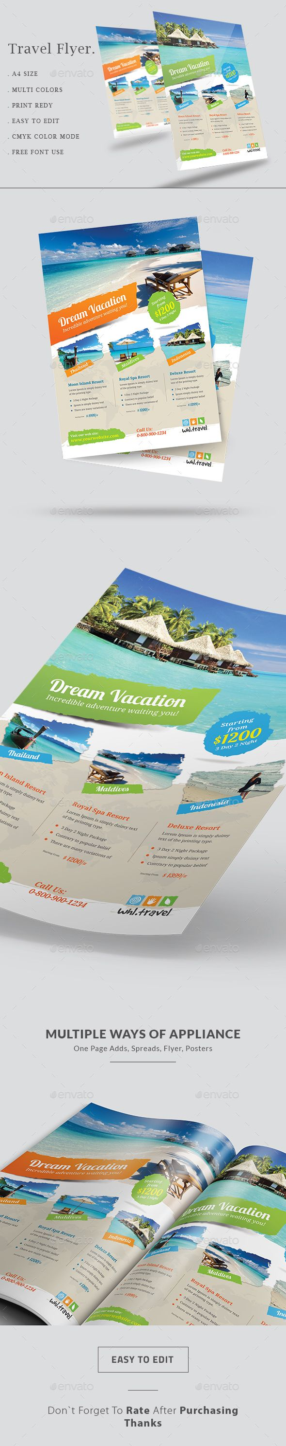 Holiday Travel  Vacation Flyer  Flyer Template Template And