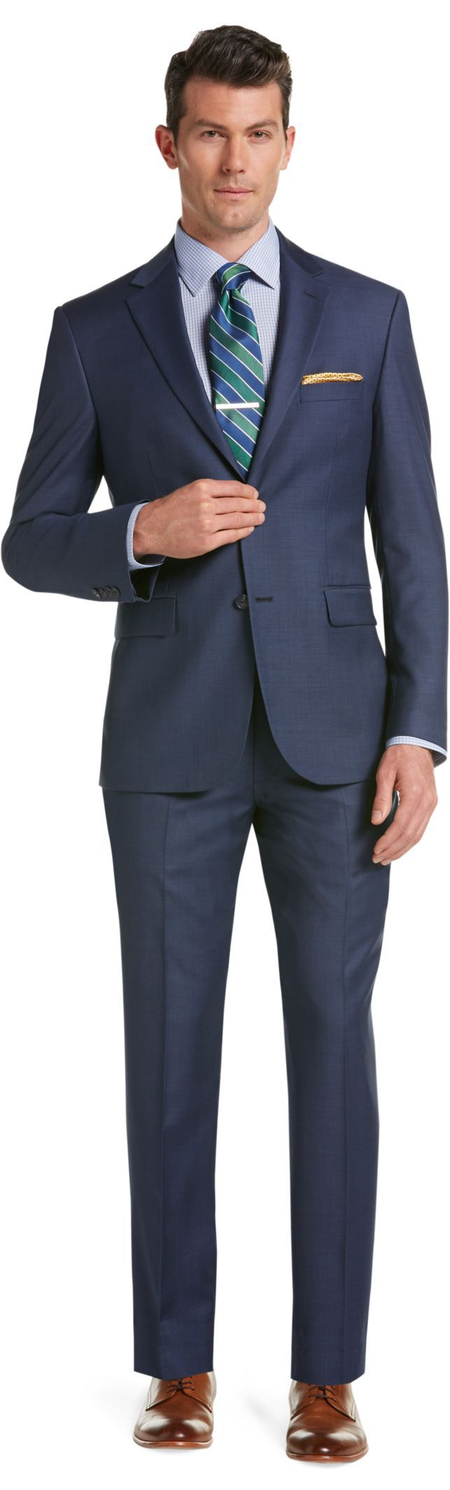 52d8fc1aa480 Traveler Collection Tailored Fit Sharkskin Suit - Big & Tall ...