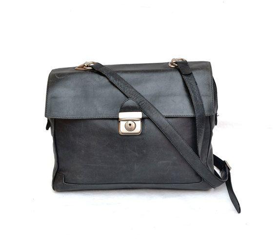 11d55facfcce4 Authentic Vintage Longchamp Canvas   Leather Trim Crossbody Shoulder Bag