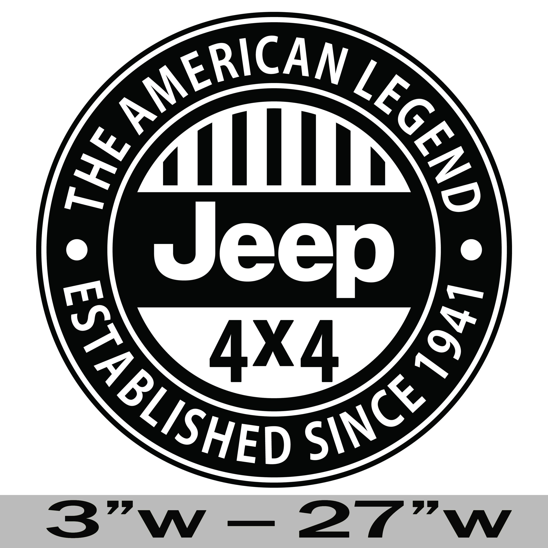 American Legend Jeep Premium Vinyl Decal