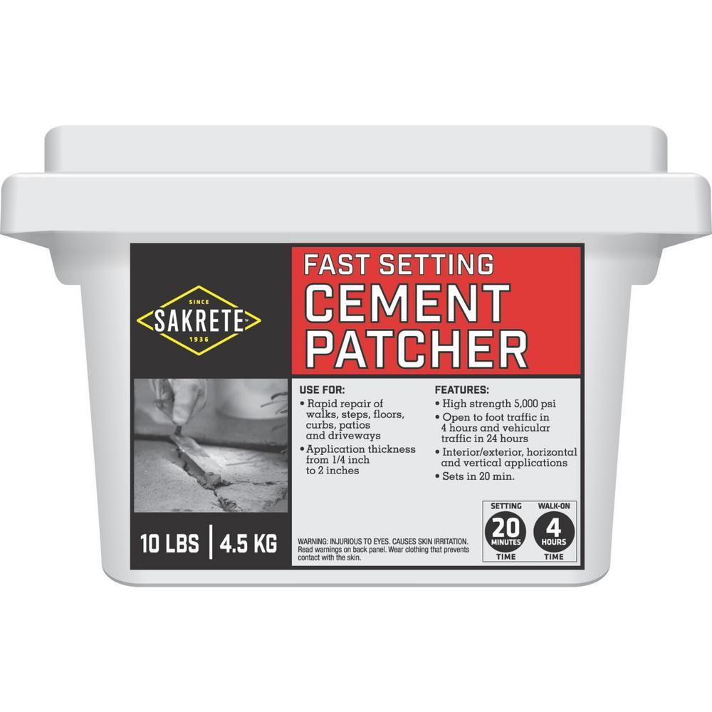 Sakrete Leak Stopper 10 lb Hydraulic Cement Concrete Patch Interior Exterior Use