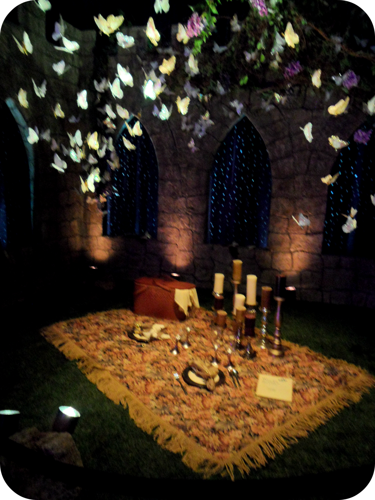 Pretty Ideas For A Romantic Night At Home. romantic night time picnic  beautiful display of a with sparkling butterflies
