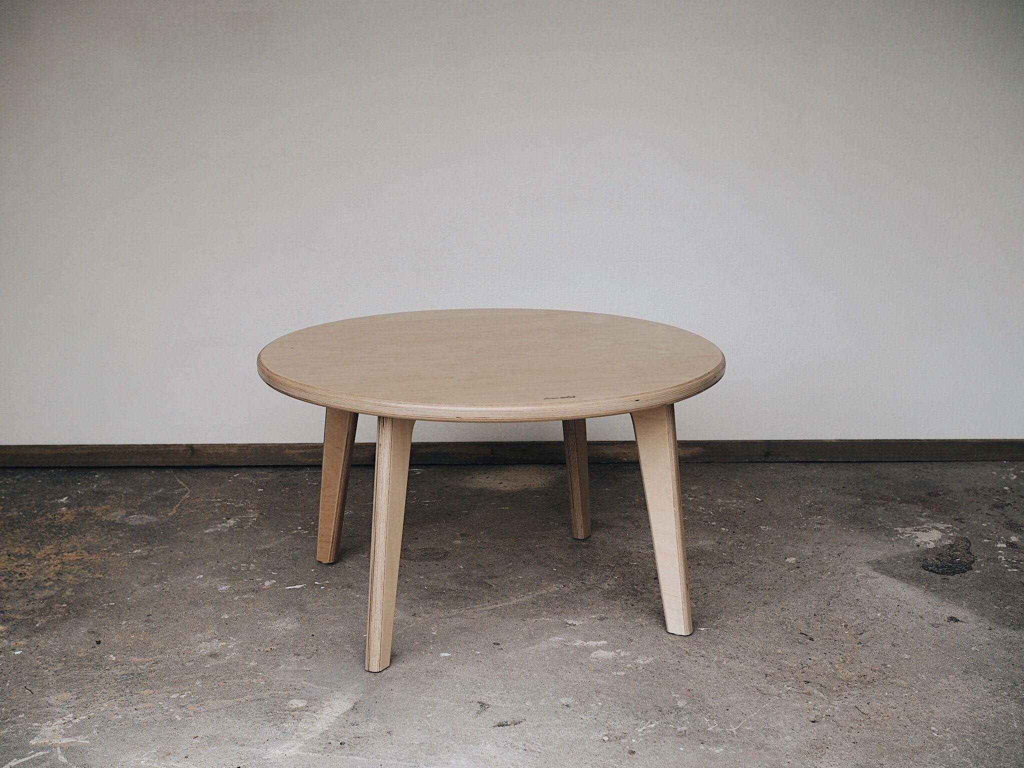 Henri Matias O80cm X 45cm Birch Wood Coffee Table Handmade In