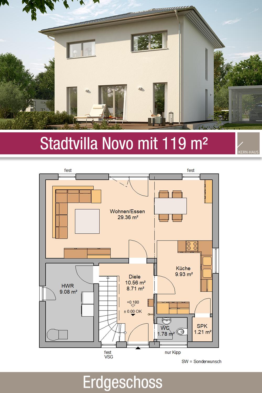 Stadtvilla Novo Von Kern Haus Attraktive Architektur Stadtvilla Erdgeschoss Haus