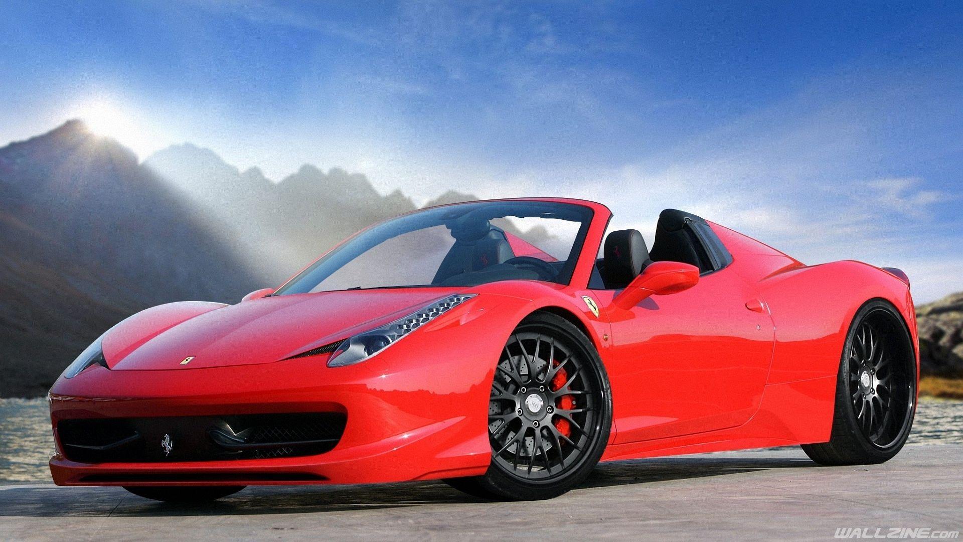 Beautiful Red Ferrari Hd Desktop Wallpaper Wallzine Com Sports Car Wallpaper Ferrari Car Cool Car Wallpapers Hd