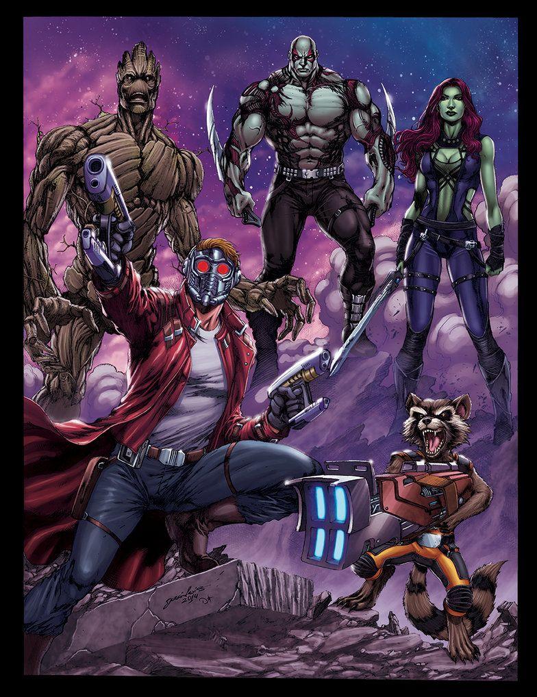 Star Lord And Rocket Raccoon By Timothygreenii On Deviantart: GUARDIANS-OF-THE-GALAXY- Star Lord, Rocket Raccoon, Gamora