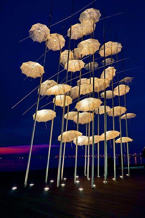 myfotolog:  #The umbrellas at night#