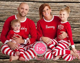 Pre order family christmas pajamas personalized matching family