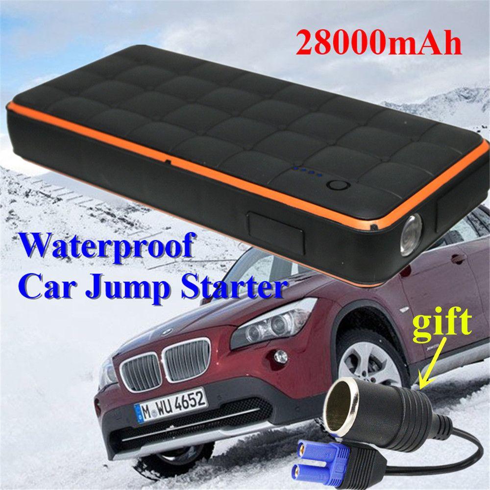 Waterproof 28000mah Car Jump Starter Portable 1000a Starting Device Power Bank 12v Car Charger For Car Battery Booster B Charger Car Car Battery Waterproof Car