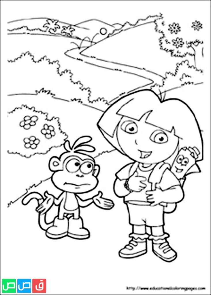 رسومات للتلوين للبنات أكثر من مائة صورة جاهزة للطباعة قصص اطفال Printable Coloring Book Dora Coloring Free Printable Coloring Sheets
