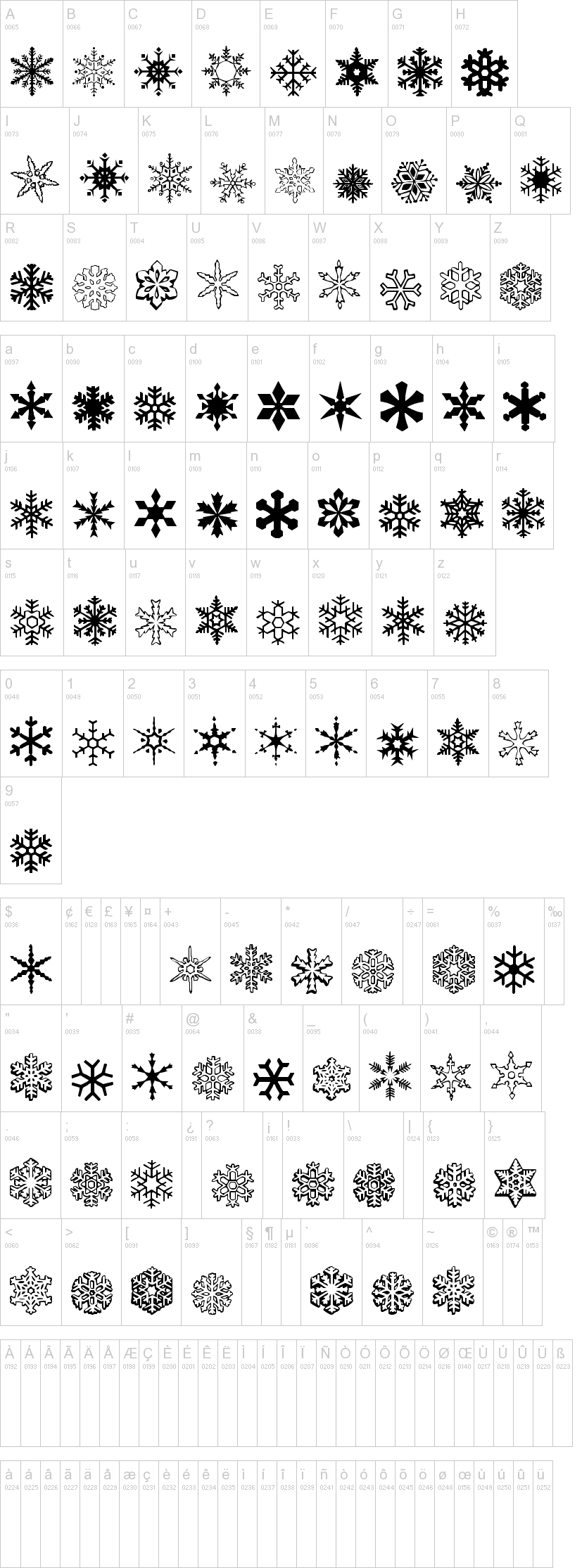 A Snowflake Font Fonts Mostly Free Pinterest Fonts Flakes