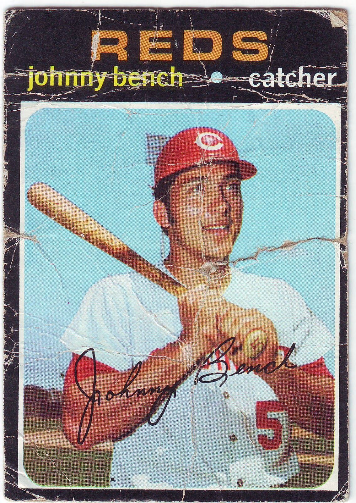Johnny Bench He Was My Favorite Baseball Player And My Card