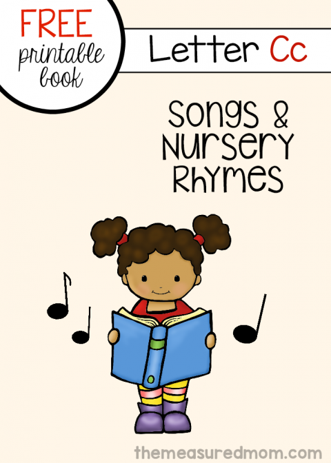 Letter C Rhymes And Songs  Free Letter Book  Literacy Joy