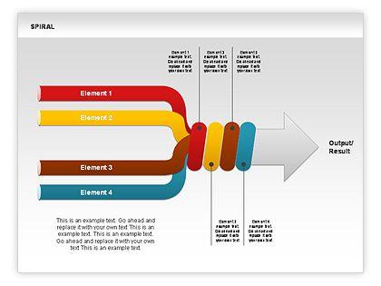 spiral chart collection httpwwwpoweredtemplatecom