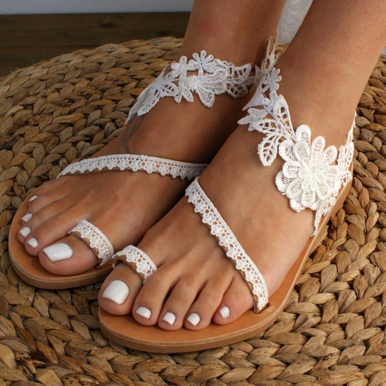 Handmade to order lace sandals bridal sandal wedding