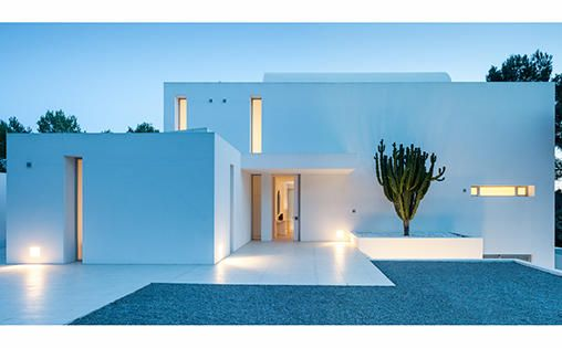 ibiza villa entrance at dusk inspiration pinterest. Black Bedroom Furniture Sets. Home Design Ideas