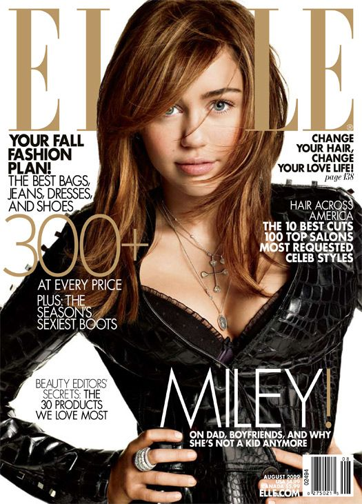 Miley Cyrus | Elle Magazine | August 2009