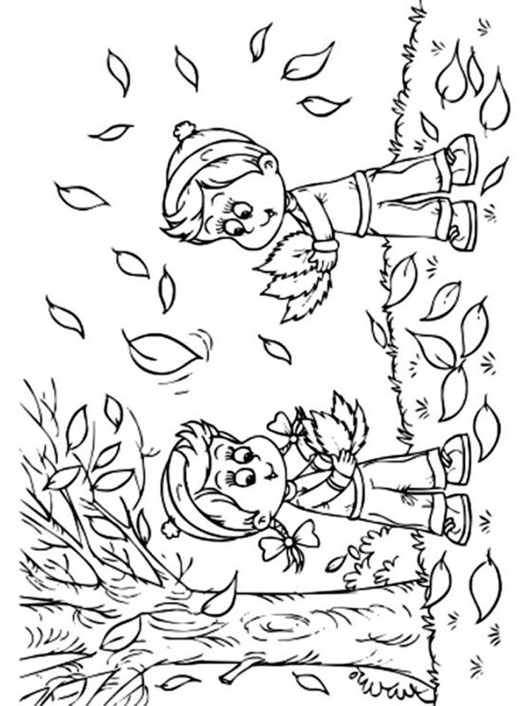 Fall Coloring Pages And Crafts